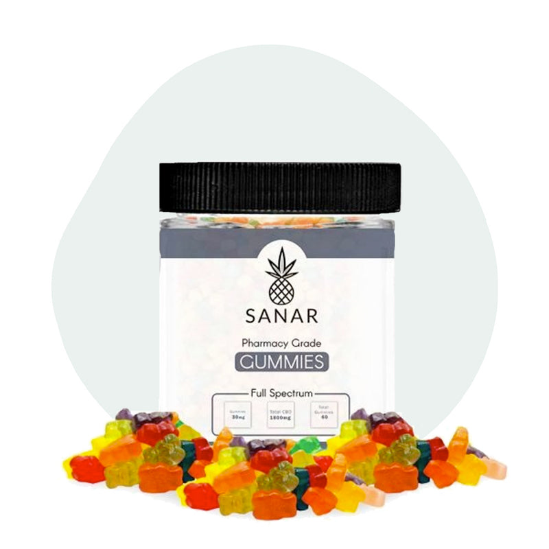 Sanar CBD Edible Full Spectrum Gummies 1800mg - ErthBay