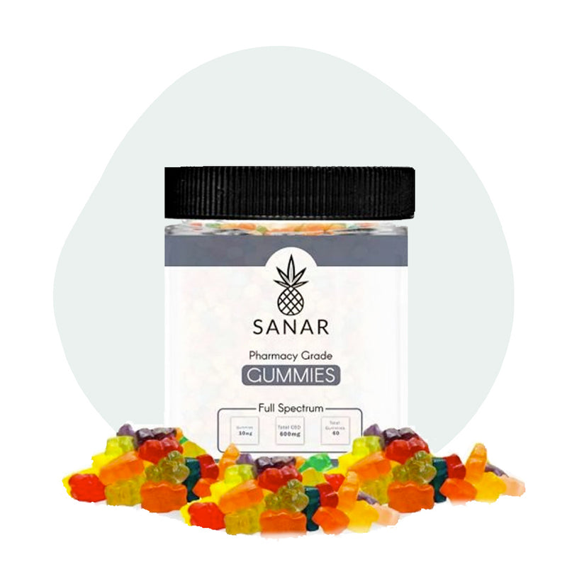 Sanar CBD Edible Full Spectrum Gummies 600mg - ErthBay