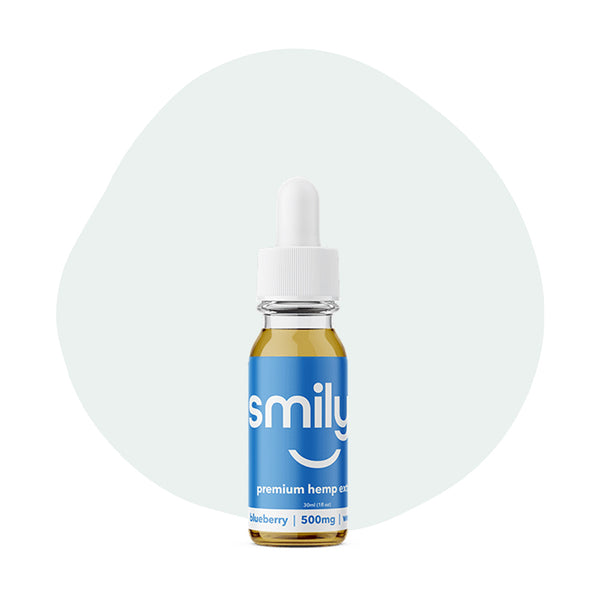 Smilyn CBD Tincture Blueberry 500mg - ErthBay