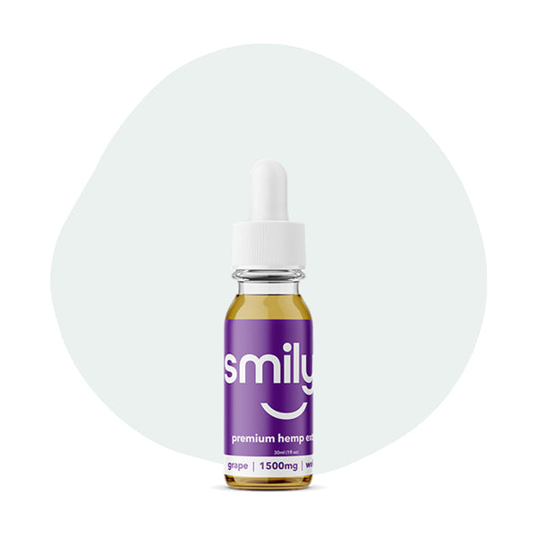 Smilyn CBD Tincture Grape 1500mg - ErthBay
