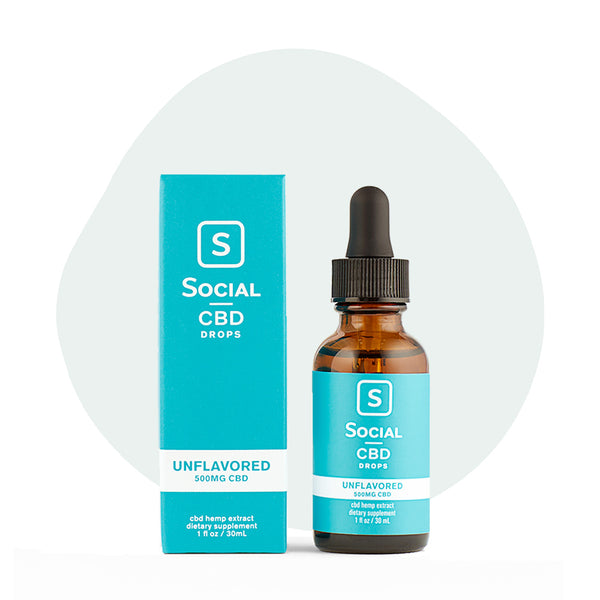 Social CBD Isolate Drops Unflavored - ErthBay