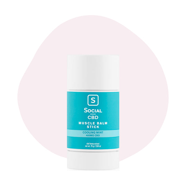 Social CBD Cooling Mint Muscle Balm Stick - ErthBay