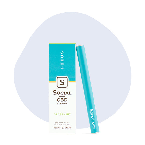 Social CBD Vape Pen Focus Spearmint - ErthBay