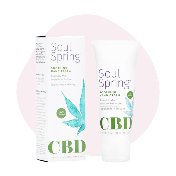 SoulSpring CBD Topical Soothing Hand Cream 100mg - ErthBay