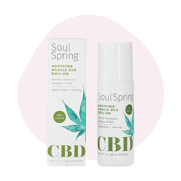 SoulSpring CBD Topical Soothing Muscle Roll-On 500mg - ErthBay