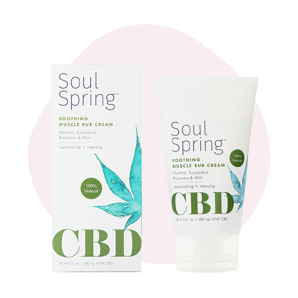 SoulSpring CBD Topical Soothing Muscle Rub Cream 500mg - ErthBay