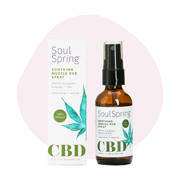 SoulSpring CBD Topical Soothing Muscle Rub Spray 350mg - ErthBay