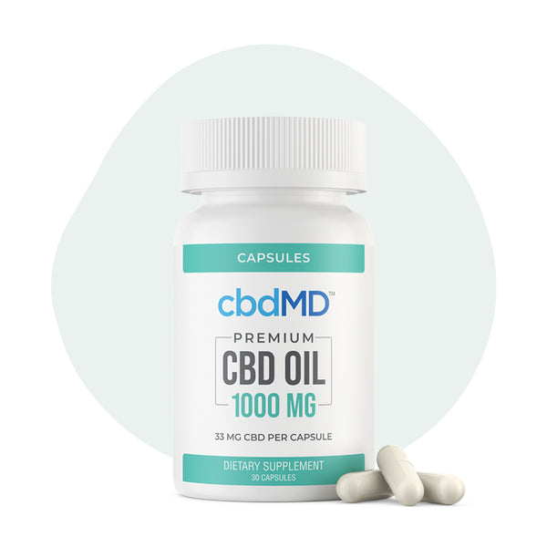 cbdMD - CBD Softgels Cbd Oil Softgel Capsules - 15mg-50mg