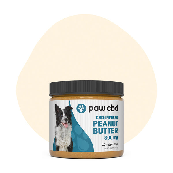 cbdMD CBD Pet Edible Peanut Butter 300mg - ErthBay