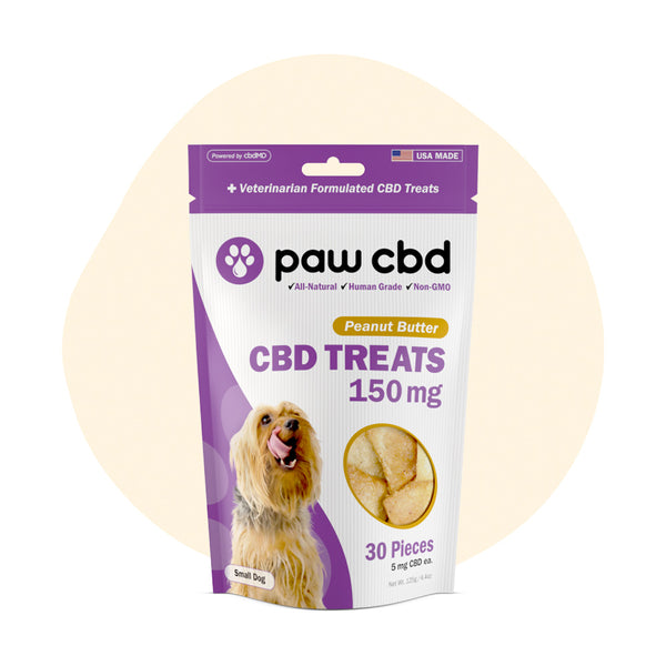 cbdMD CBD Pet Edible Peanut Butter Dog Treats 150mg - ErthBay