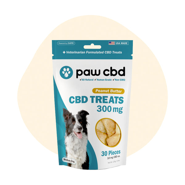 cbdMD CBD Pet Edible Peanut Butter Dog Treats 300mg - ErthBay
