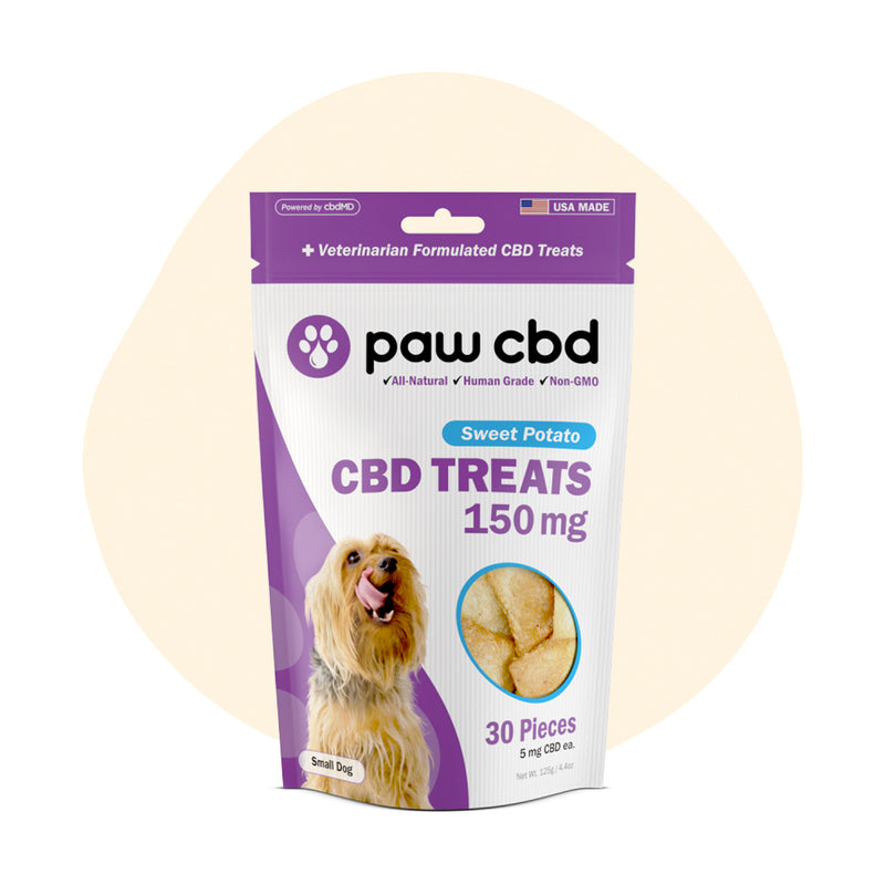 cbdMD CBD Pet Edible Sweet Potato Dog Treats 150mg - ErthBay