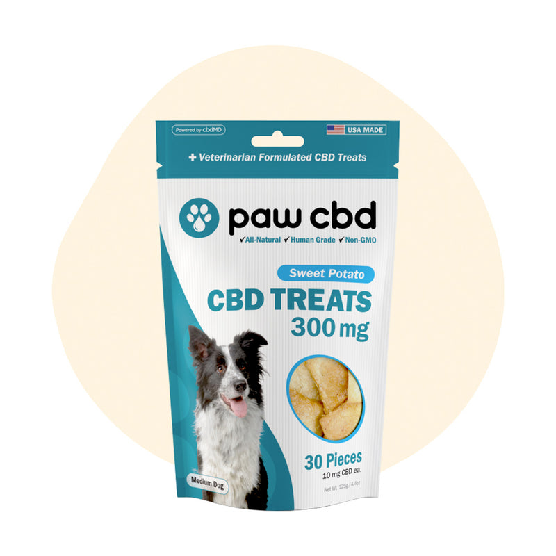 cbdMD CBD Pet Edible Sweet Potato Dog Treats 300mg - ErthBay