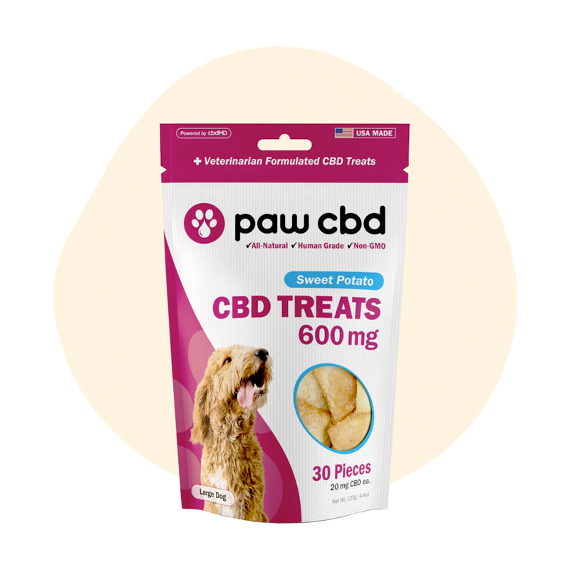 cbdMD CBD Pet Edible Sweet Potato Dog Treats 600mg - ErthBay