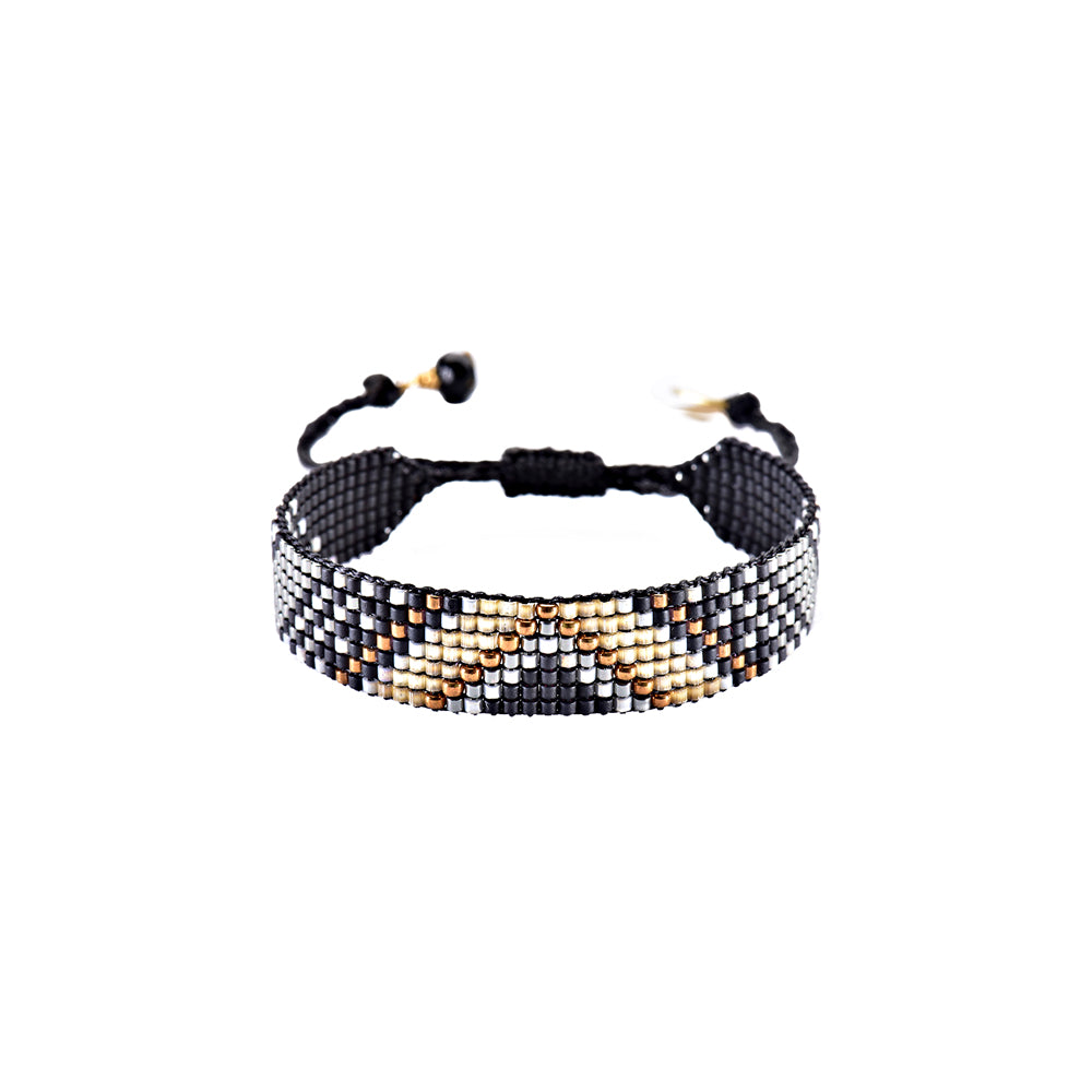 Copy of Mishky Track Beaded Bracelet - Black