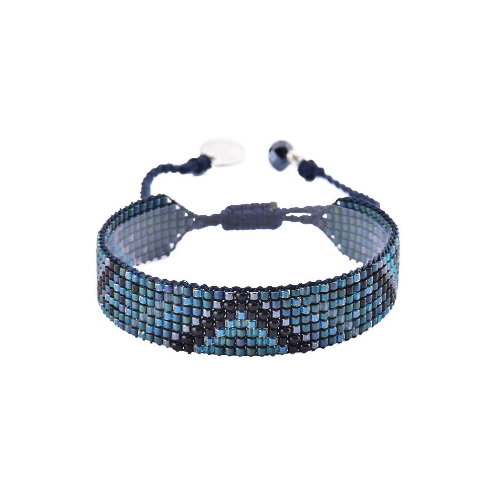 Mishky Track Beaded Bracelet - Blue