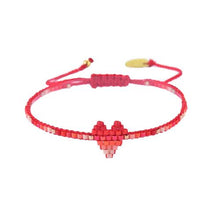 Load image into Gallery viewer, Mishky Heartsy Row Beaded Bracelet - 12 Colors