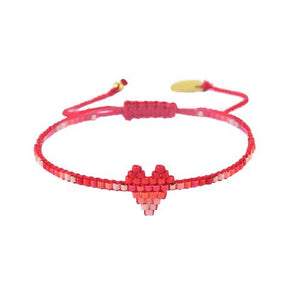 Mishky Heartsy Row Beaded Bracelet - 12 Colors