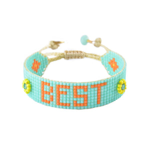 Mishky Best Beaded Bracelet - 2 Colors (Pink & Turquoise)