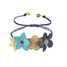 Load image into Gallery viewer, Mishky Flower Beaded Bracelet - 2 Colors (Beige & Turquoise)