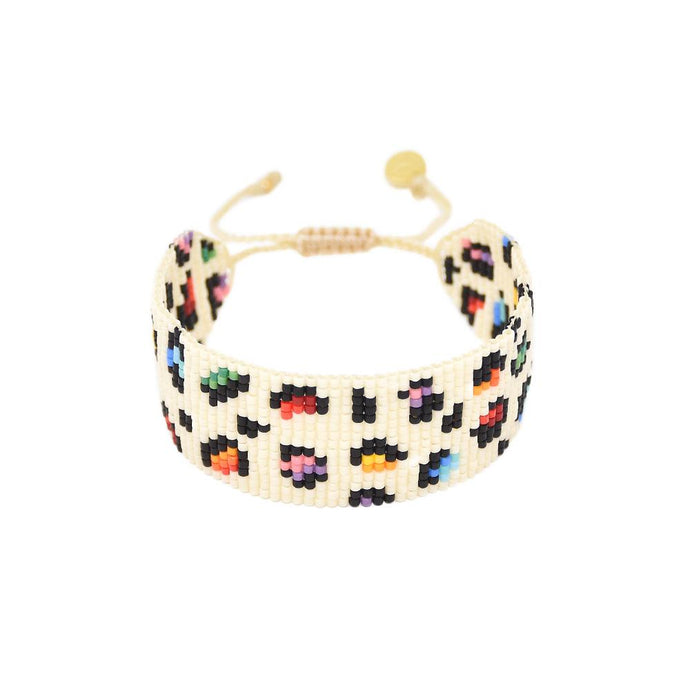 Mishky Rainbow Panther Wide Beaded Bracelet