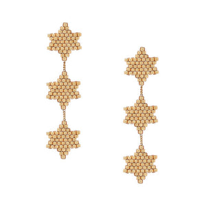Mishky Beaded Star Earrings - Gold