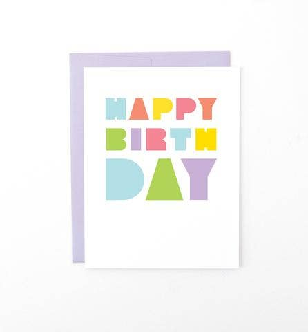 Graphic Anthology - Block Type Birthday Card