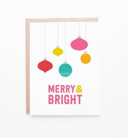 Graphic Anthology Merry Ornaments card