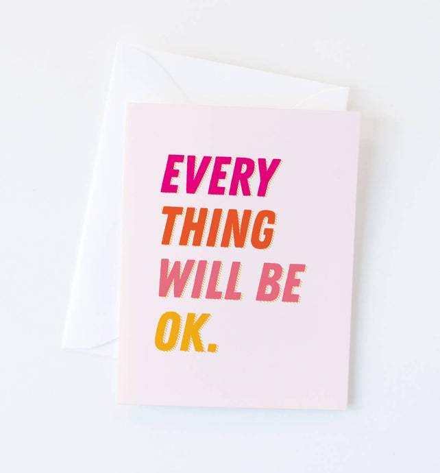 Graphic Anthology - Everything OK card