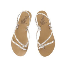 Load image into Gallery viewer, Ancient Greek Sandals Yianna - Silver/Platinum