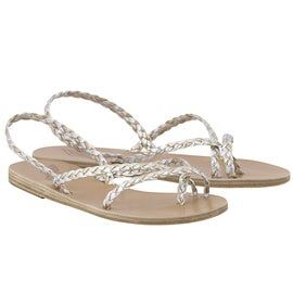 Ancient Greek Sandals Yianna - Silver/Platinum