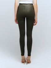 Load image into Gallery viewer, L'Agence Rochelle Coated Jean - Army Green Coated