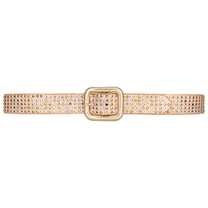 Streets Ahead Studded Belt - Pink/Gold Wash