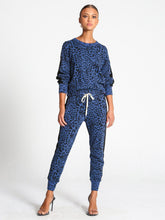Load image into Gallery viewer, n:philanthropy Azure Sweatshirt - Galaxy Blue Leopard