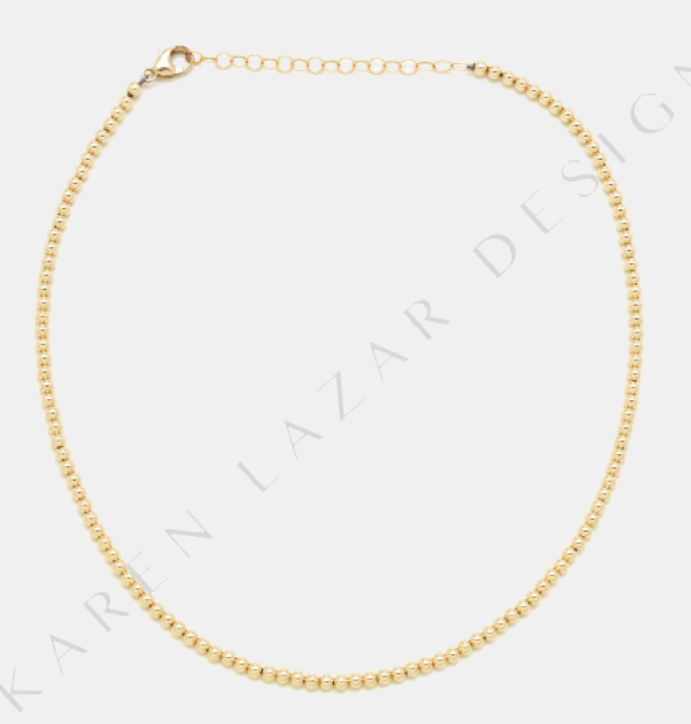 Karen Lazar 3MM Yellow Gold Filled Necklace