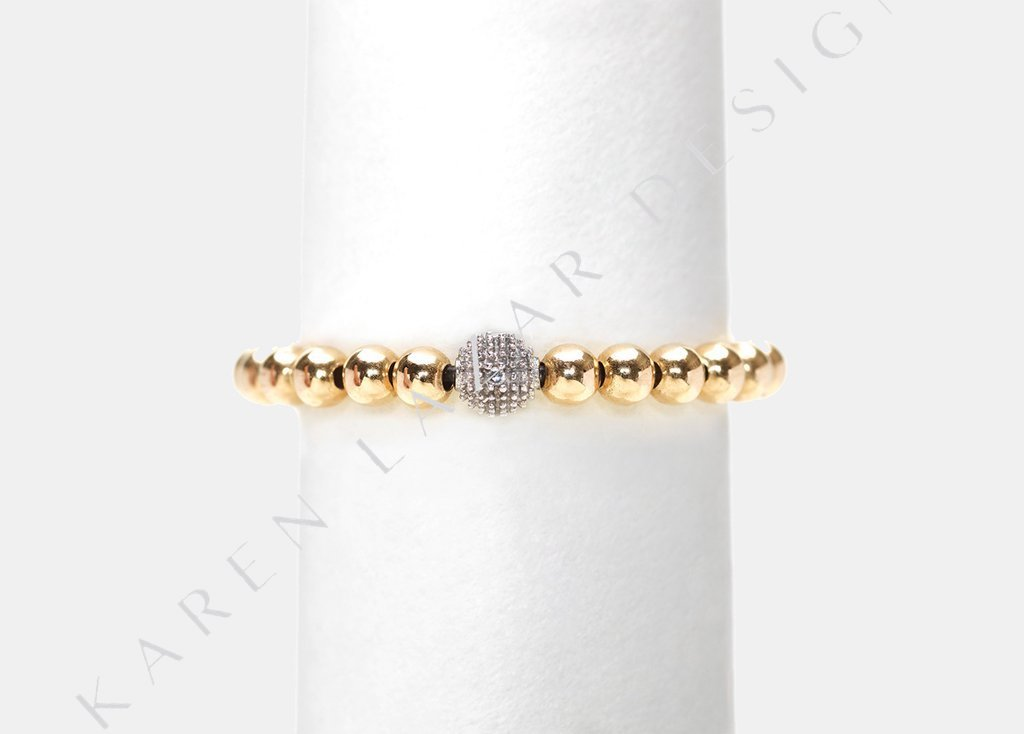 Karen Lazar Ring - 3mm Diamond Bead