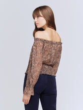 Load image into Gallery viewer, L'Agence Lilia Top - Brown/Black Small Cheetah