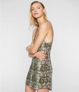 Pam & Gela Snake Tank Dress - Natural