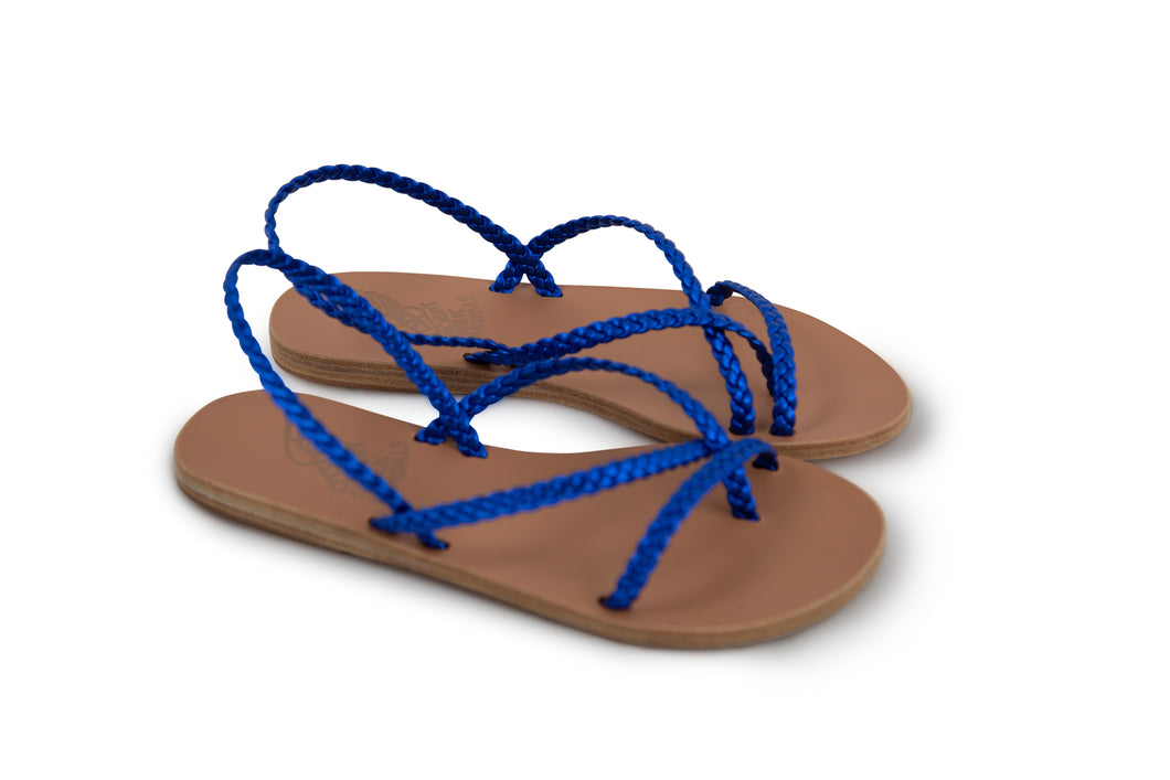 Ancient Greek Sandals Yianna - Blue Metal