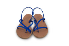 Load image into Gallery viewer, Ancient Greek Sandals Yianna - Blue Metal