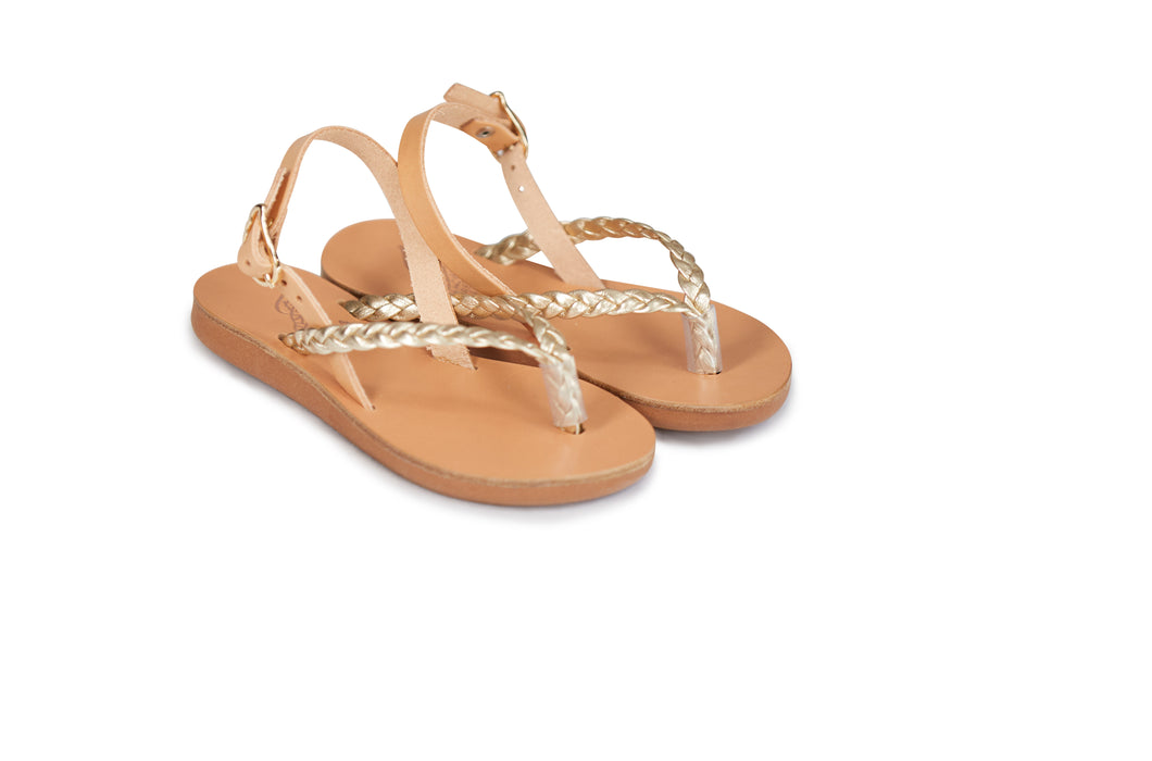 Ancient Greek Sandals Little Hera Soft - Platinum/Natural