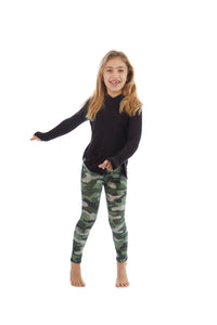 Terez Girls Thumbole Hoodie w/Overlap Side Seam - Black