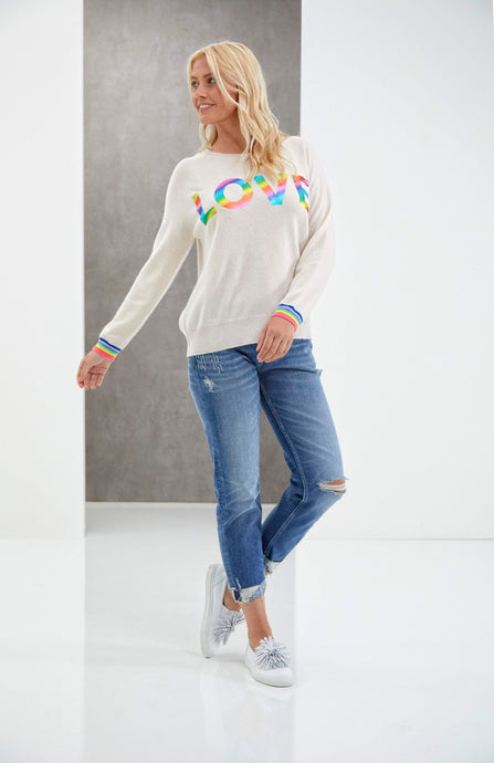 Brodie Love Foil Sweat - Light Pink