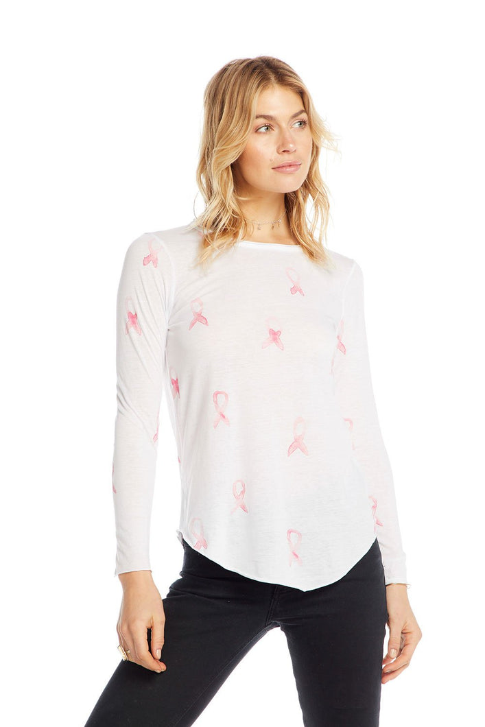 Chaser Breast Cancer Ribbon L/S T-shirt