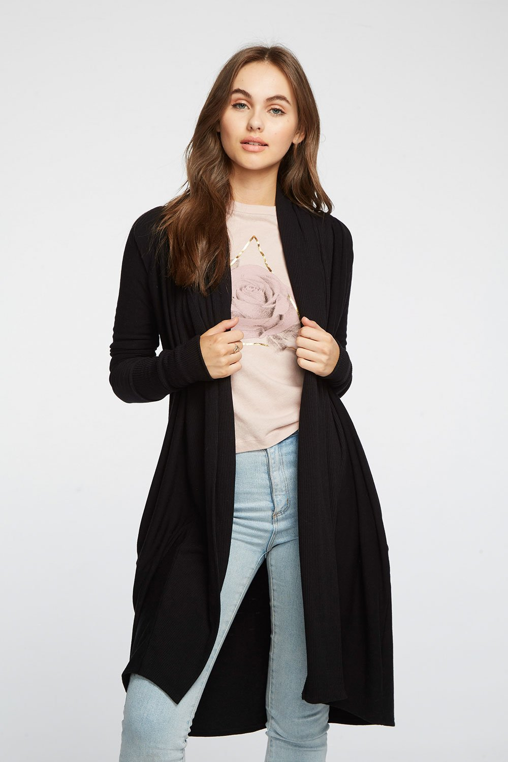 Chaser Cozy Knit Raglan Shawl Collar Duster