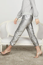 Load image into Gallery viewer, David Lerner James Sequin Jogger - Silver