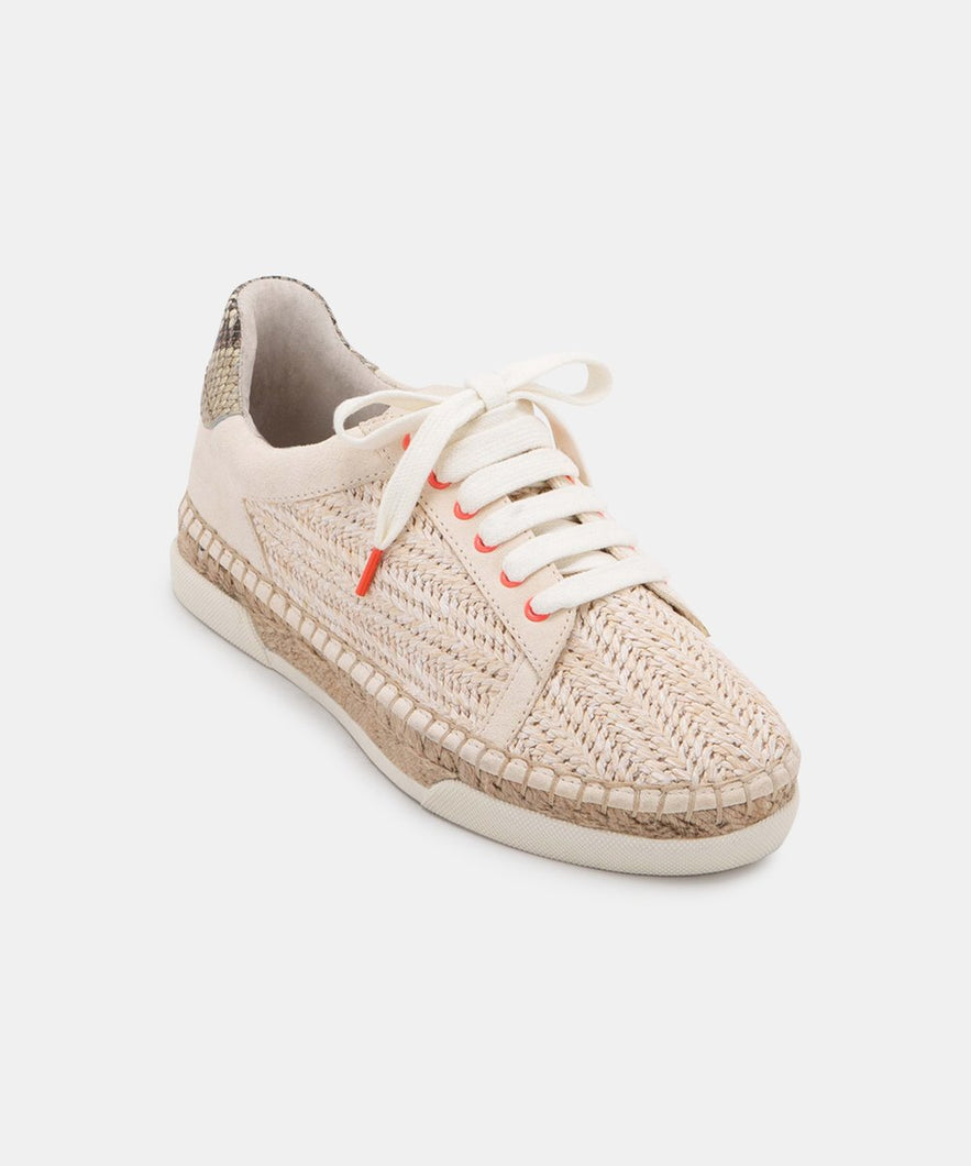 Dolce Vita Madox Sneakers - Ivory Raffia