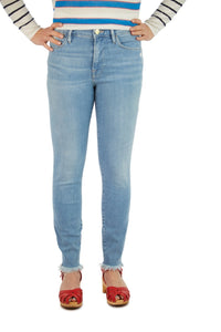 FRAME Le High Skinny Micro Shredded - Jardin