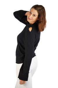 LNA Adore Rib Sweater - Black