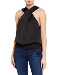 Ramy Brook Carlene Satin Top - Black